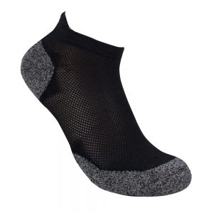 Bamboo charcoal ankle sock black