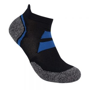 Bamboo charcoal ankle sock black / blue