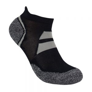 Bamboo charcoal ankle sock black / grey