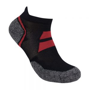 Bamboo charcoal ankle sock black / pink