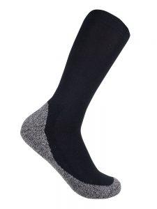 Bamboo charcoal business sock black