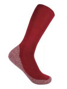 Bamboo charcoal business sock burnt red