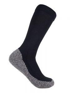 Bamboo charcoal health sock black