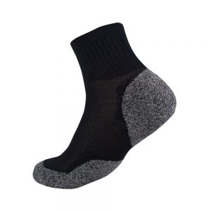 Bamboo charcoal quarter sock black