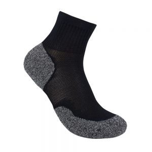 Bamboo charcoal quarter sock black
