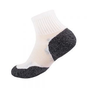 Bamboo charcoal quarter sock white