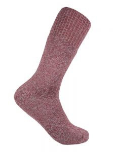 Bamboo charcoal trekking sock burnt red