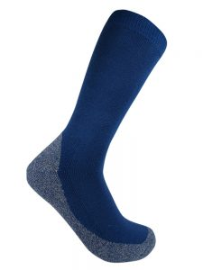 Bamboo charcoal business sock blue