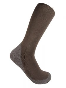 Bamboo charcoal business sock olive