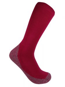 Bamboo charcoal business sock pink