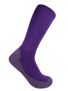 Bamboo charcoal business sock purple