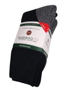 Thick work sock slate 3 pack