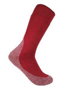 Thick work sock burnt red