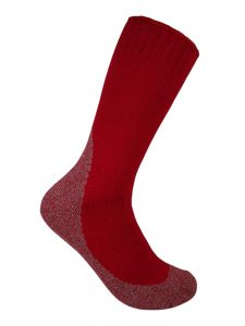 Thick work sock jungle red