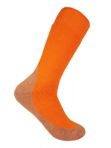 Thick work sock orange