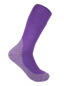 Thick work sock purple